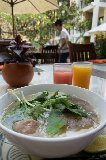 Bowl of pho in Hoi An, Vietnam