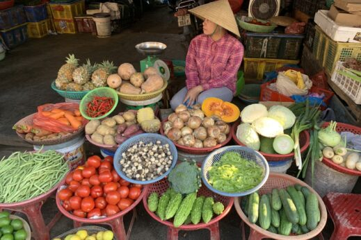 Fresh fruit and vegetables in Hoi An, Vietnam