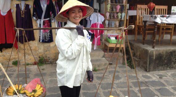 Conical Hat fruit seller