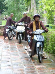 Motor monks in Hue