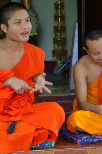Laotian monks in Luang Prabang
