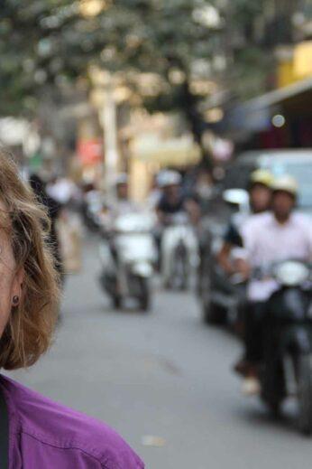 Lesley in Hanoi