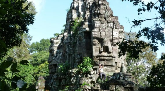 Angkor temple faces