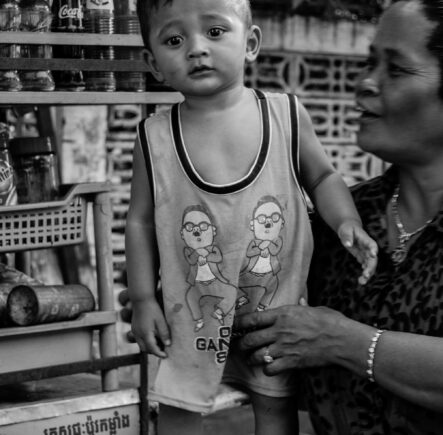 Baby rocking a Gangnam Style top in Cambodia