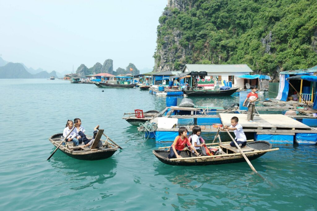 Floating Village in Bai Tu Long Bay