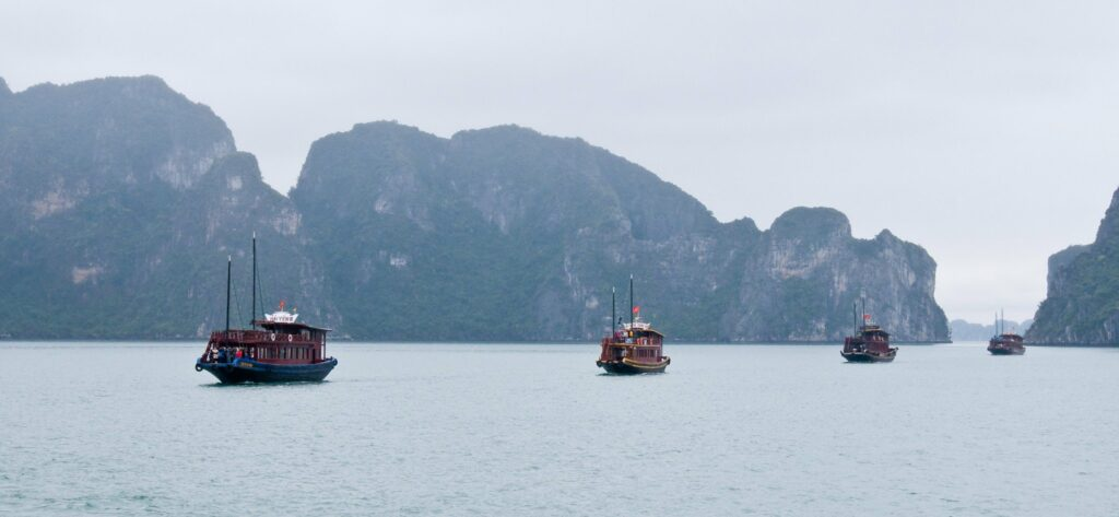 Halong Bay cruising