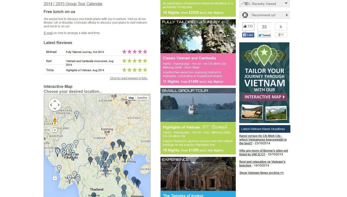 Explore Vietnam guide screenshot