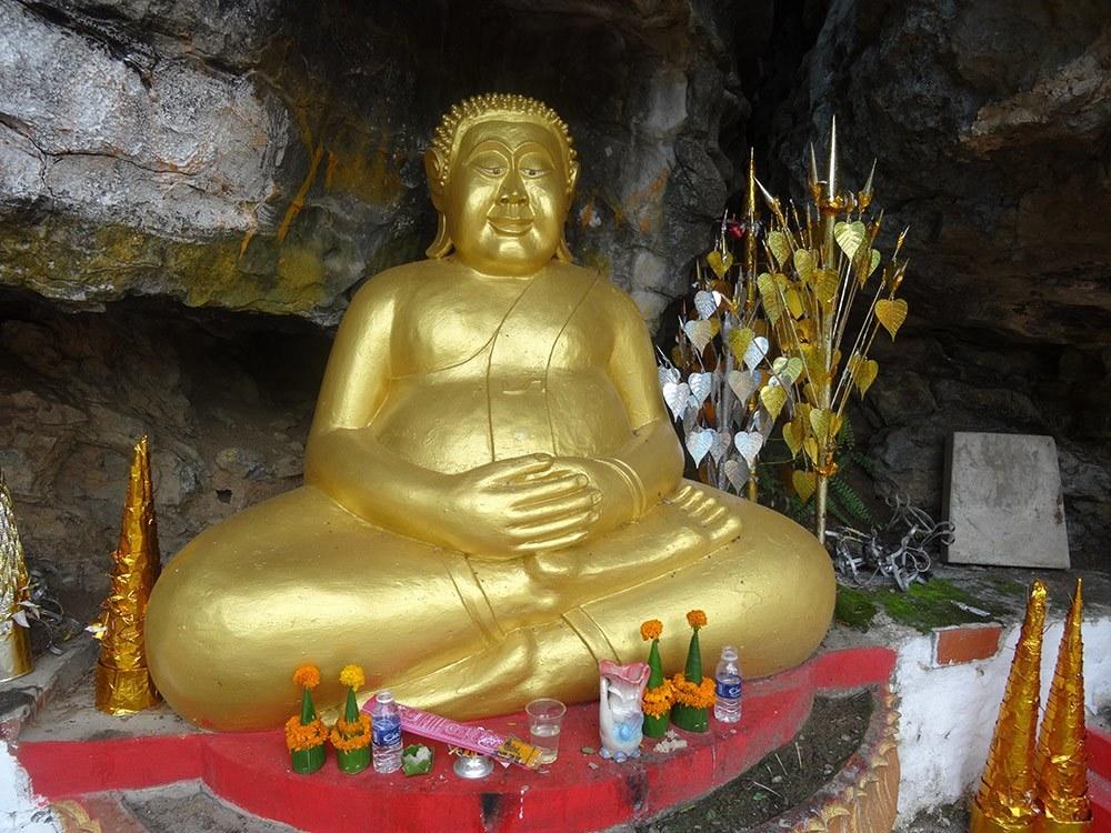 Statue at Mt Phousi, Laos