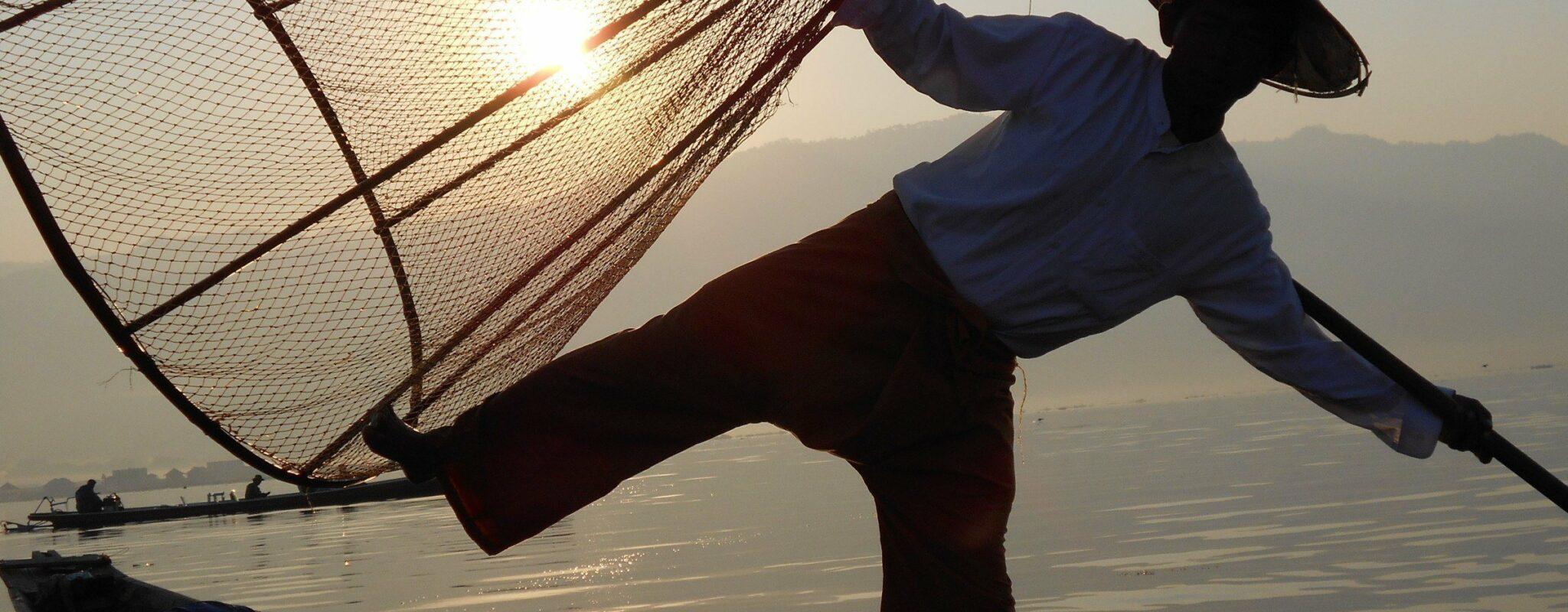 Dancing Fisherman - Beautiful Burma