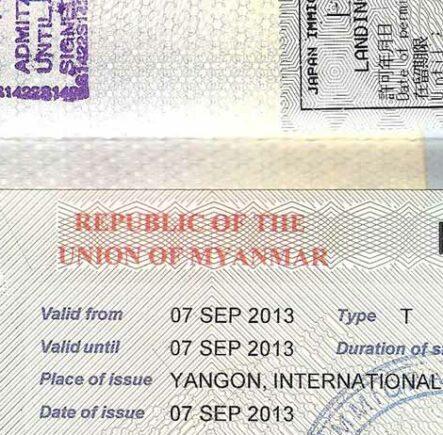 Burma visa