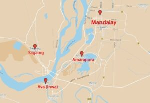 Map of Mandalay & the surrounding area