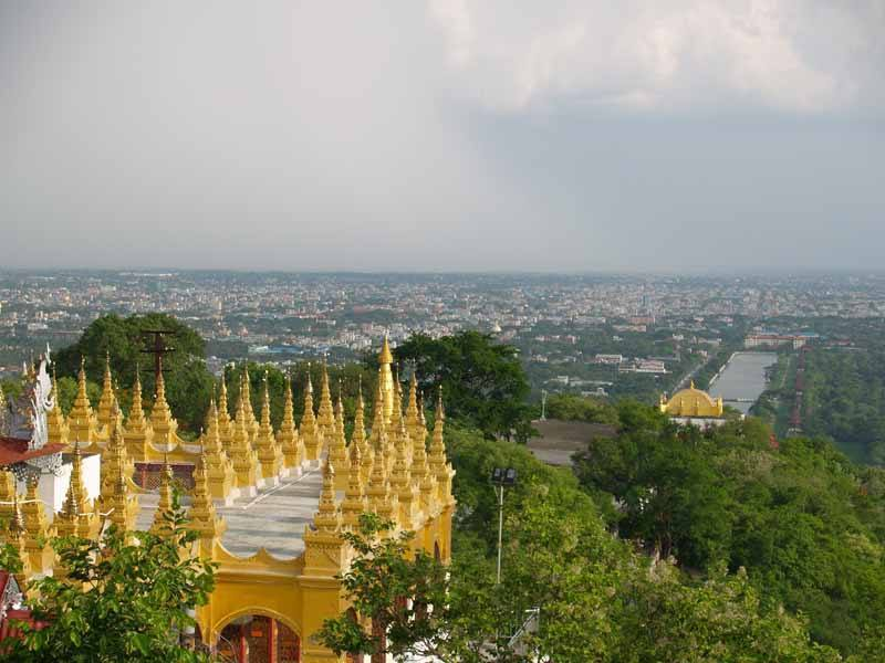 The view from Mandalay Hill