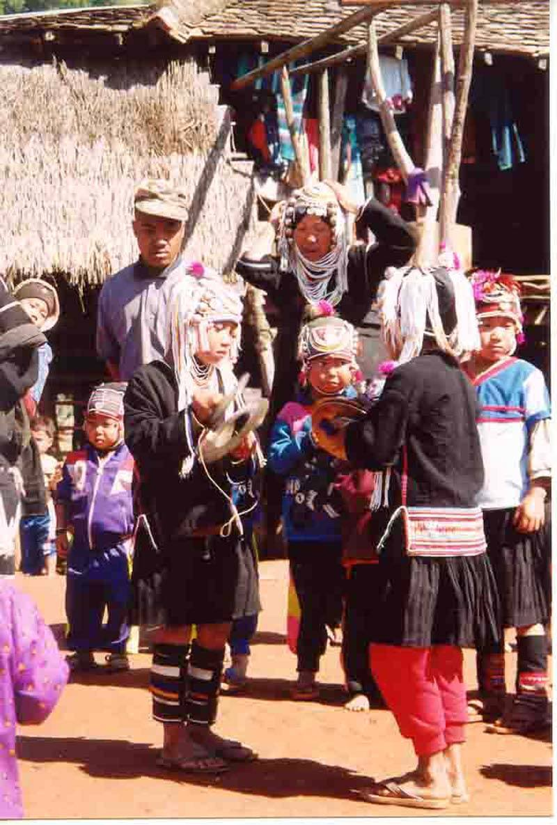 Keng Tung - kids playing during Akha new year
