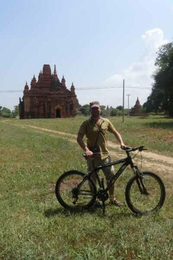 James explores Bagan by bike