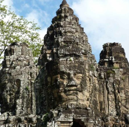 Kids love exploring the overgrown temples of Angkor in Cambodia