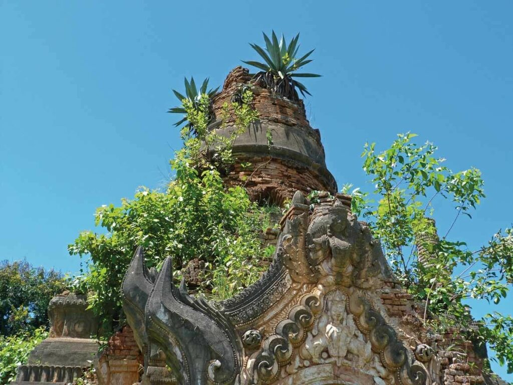 The overgrown pagodas of Shwe Indein