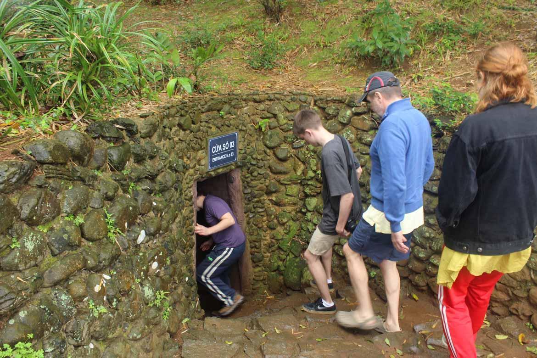 Entering the Vinh Moc Tunnels