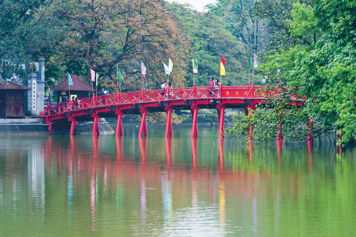 Hoan Kiem Lake at the heart of Hanoi (copyright Norman Blaikie)