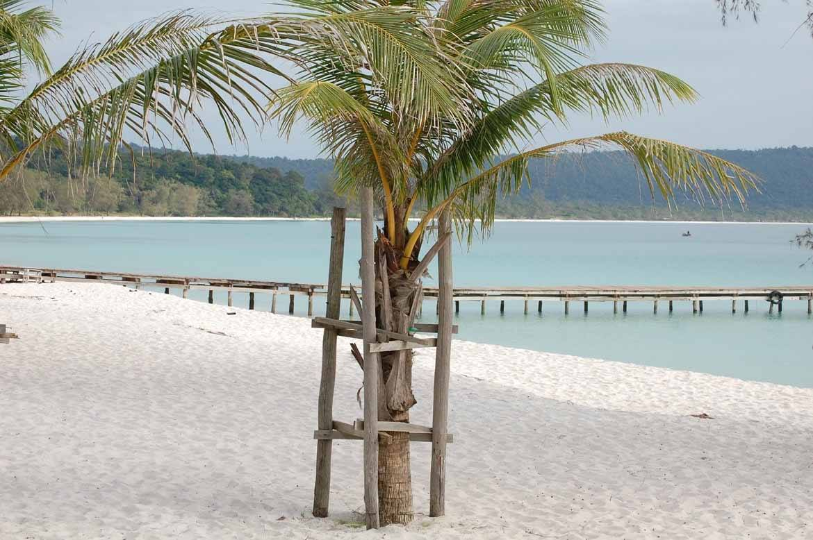 The wonderful white sand of Koh Rong