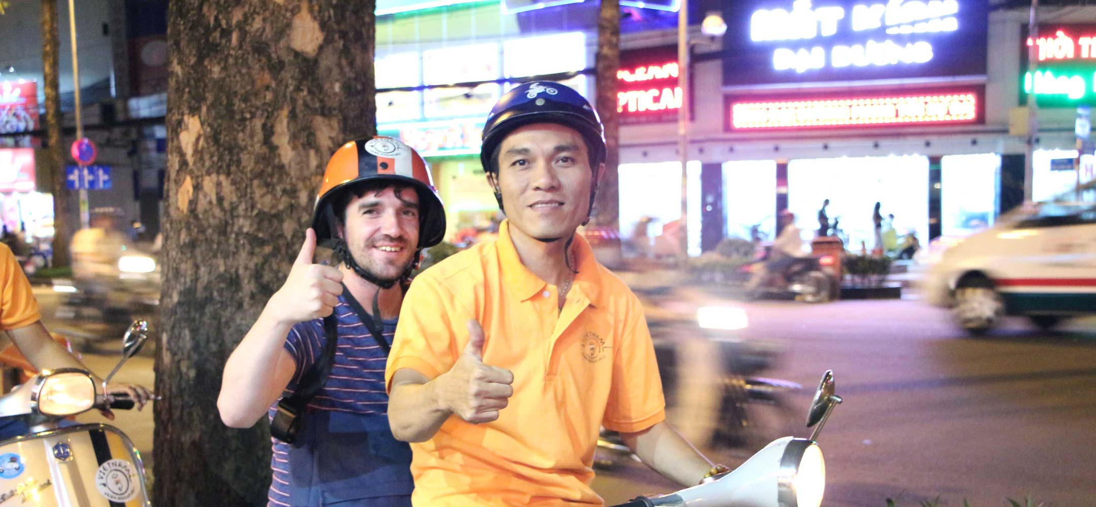Vespa touring in Saigon