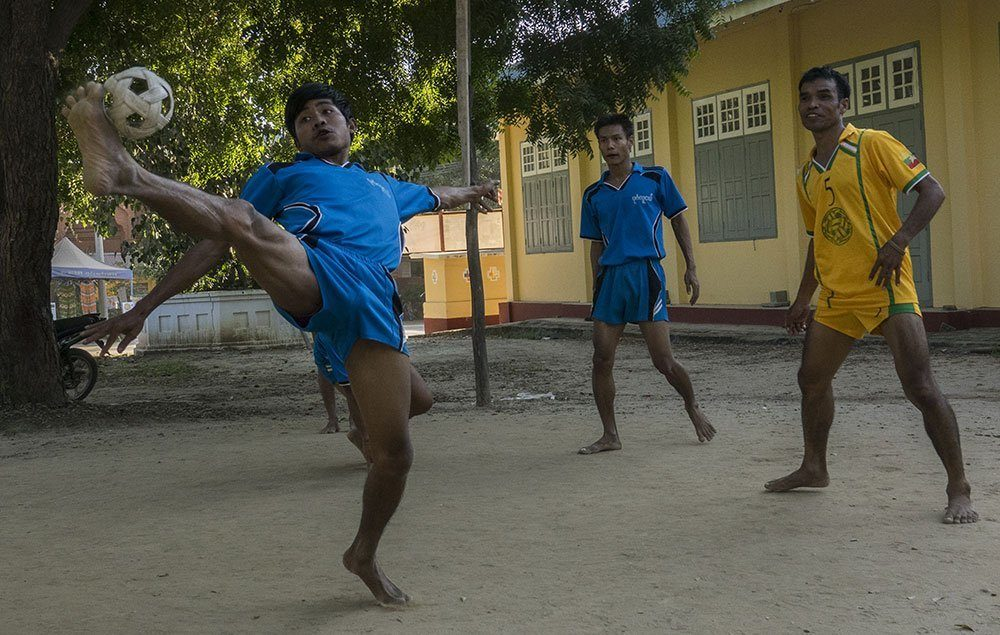 Travel Photography Competition - Playing Chinlone, the national sport of Myanmar