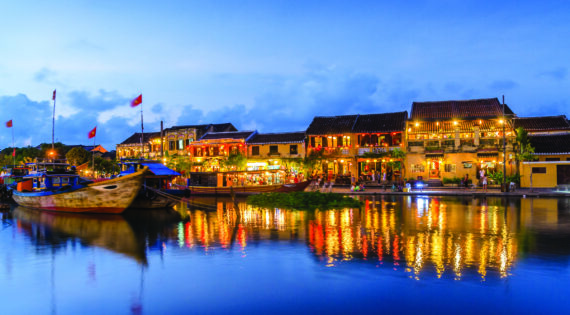 Hoi An Riverside twilight, Vietnam