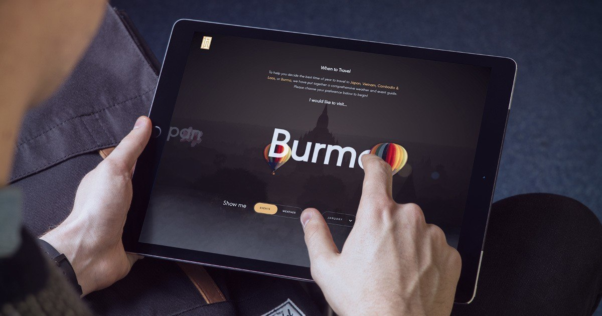 When to travel to Burma - home screen