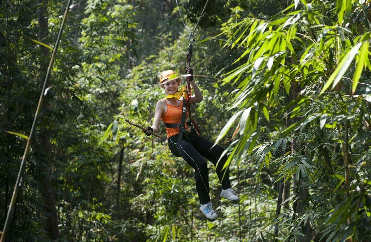 Zip-line Tree Top Explorer in Laos