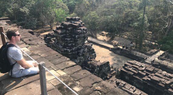 Aaron tour leading in Angkor Wat, Cambodia