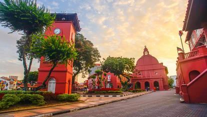 Red buildings of Malacca