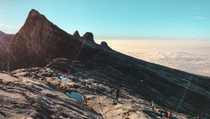 The final ascent of Mount Kinabalu