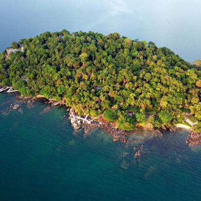 Aerial view of Koh Krabey Island