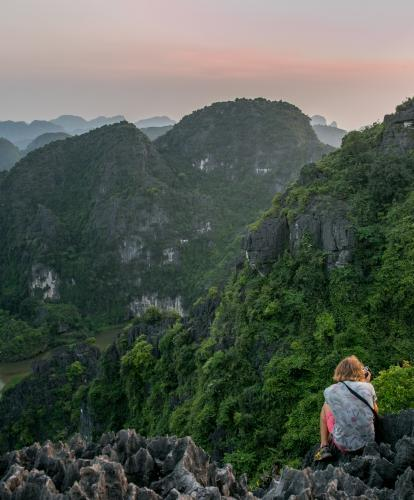 Looking down over Ninh Binh