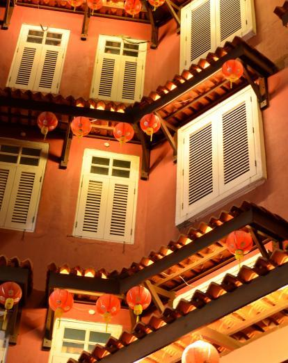 Buildings on Jonker Street in Malacca