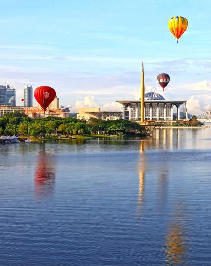 Hot air balloons over Putrajaya
