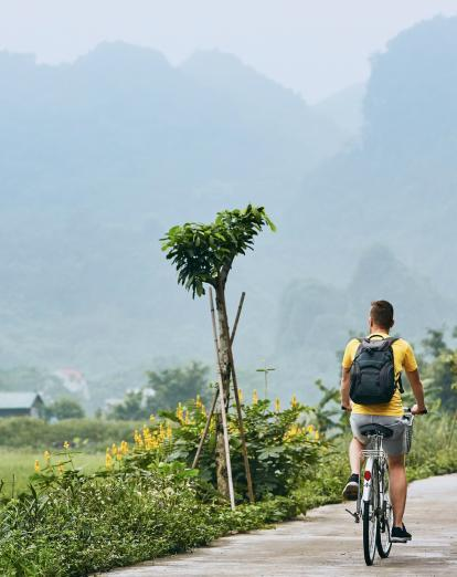 Cycling in Vietnam countryside