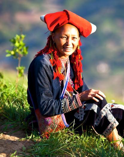 Red Dao lady in Northern Vietnam