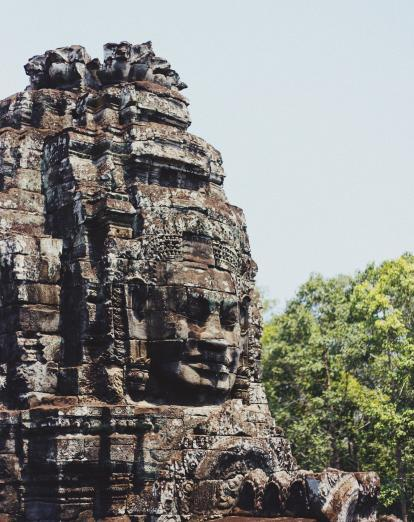 Temple face at Angkor Wat
