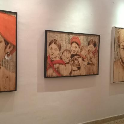 Pictures in a Hanoi modern art gallery