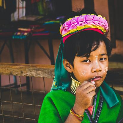 Child in traditional dress in Loikaw