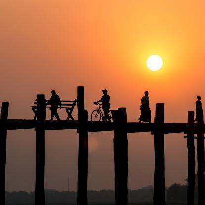 U-bein bridge in Mandalay