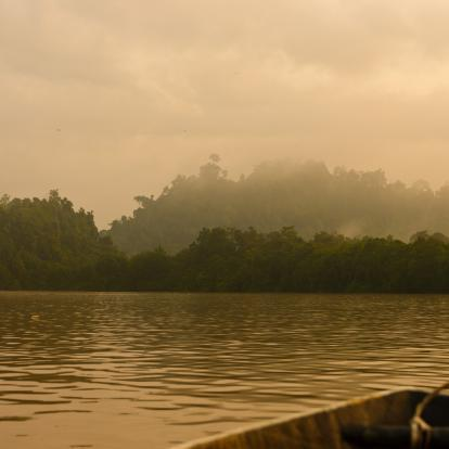 Boat on Kinabatangan River