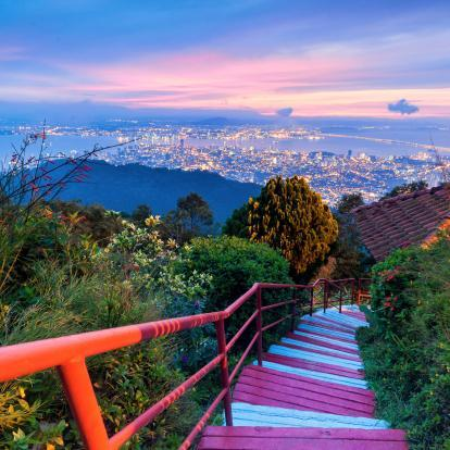 Steps up to Penang Hill