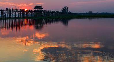 Sunset over U-Bein bridge