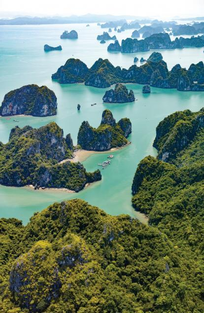 Vietnam - Halong Bay - Aerial View - Stock