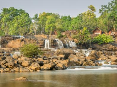 Waterfall at Bolaven Plateau