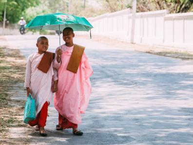 Children of Kalaywa Monastery in Yangon