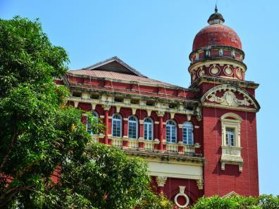 Exterior of colonial building in Yangon