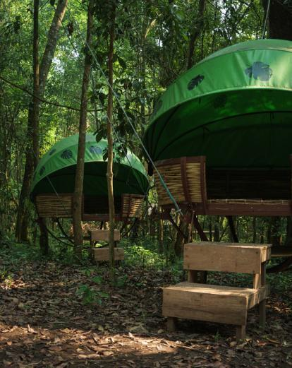 Forest huts in Nam Et-Phou Louey NPA - Wildlife Conservation Society ©